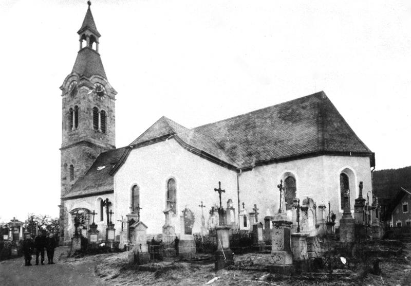Pfarrkirche Böbrach vor dem Neubau