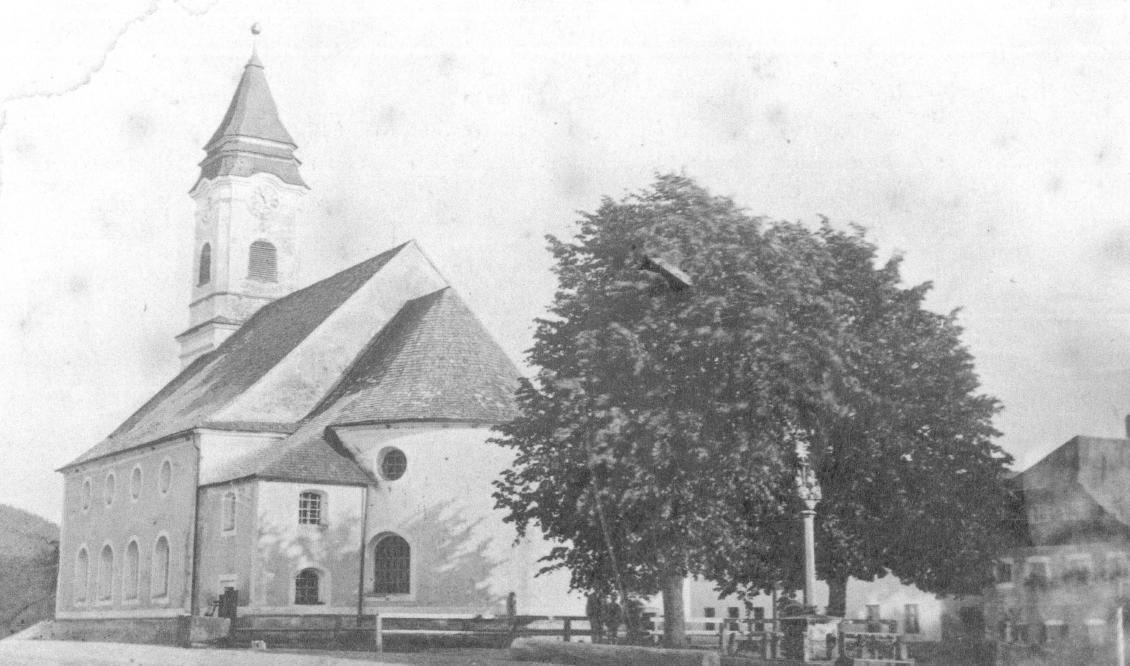 Pfarrkirche Bodenmais im Jahr 1876