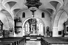 Inneres der alten Pfarrkirche Böbrach